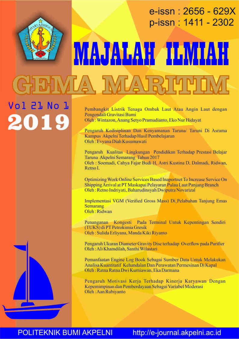 Gema Maritim Vol 21 No 1 tahun 2019