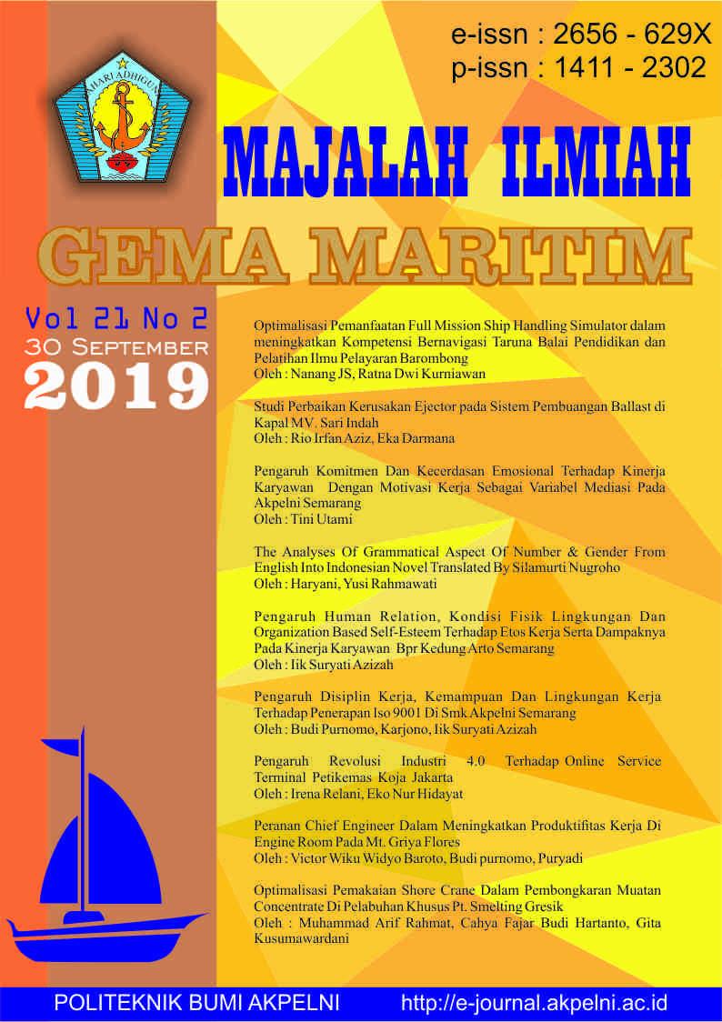 Gema Maritim Vol 21 No 2 tahun 2019