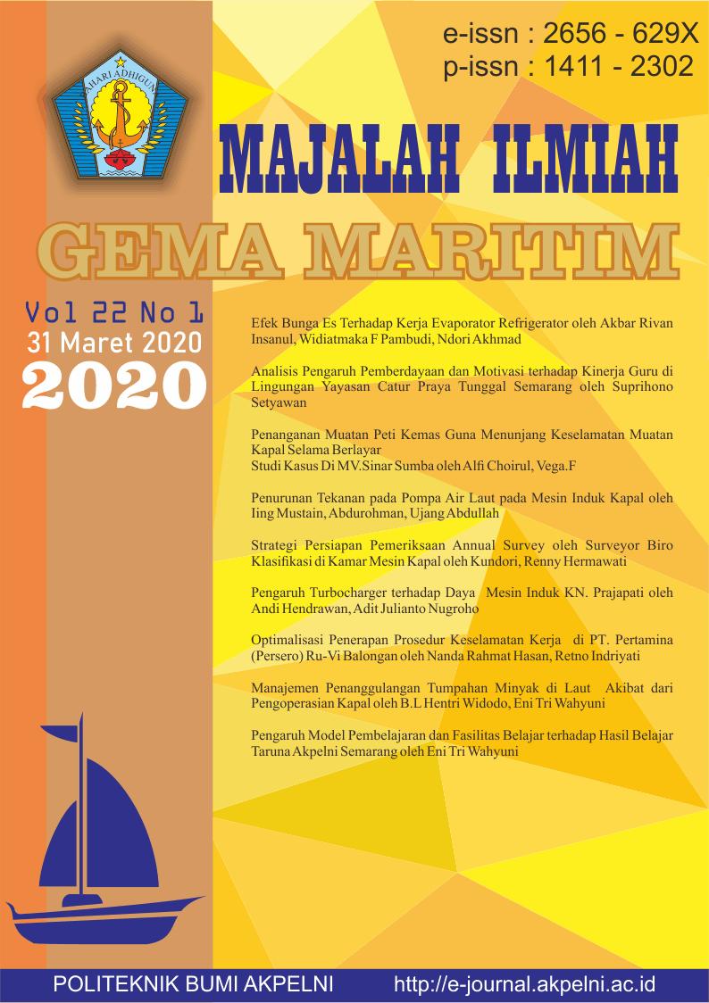 Gema Maritim Vol 22 No 1 tahun 2020