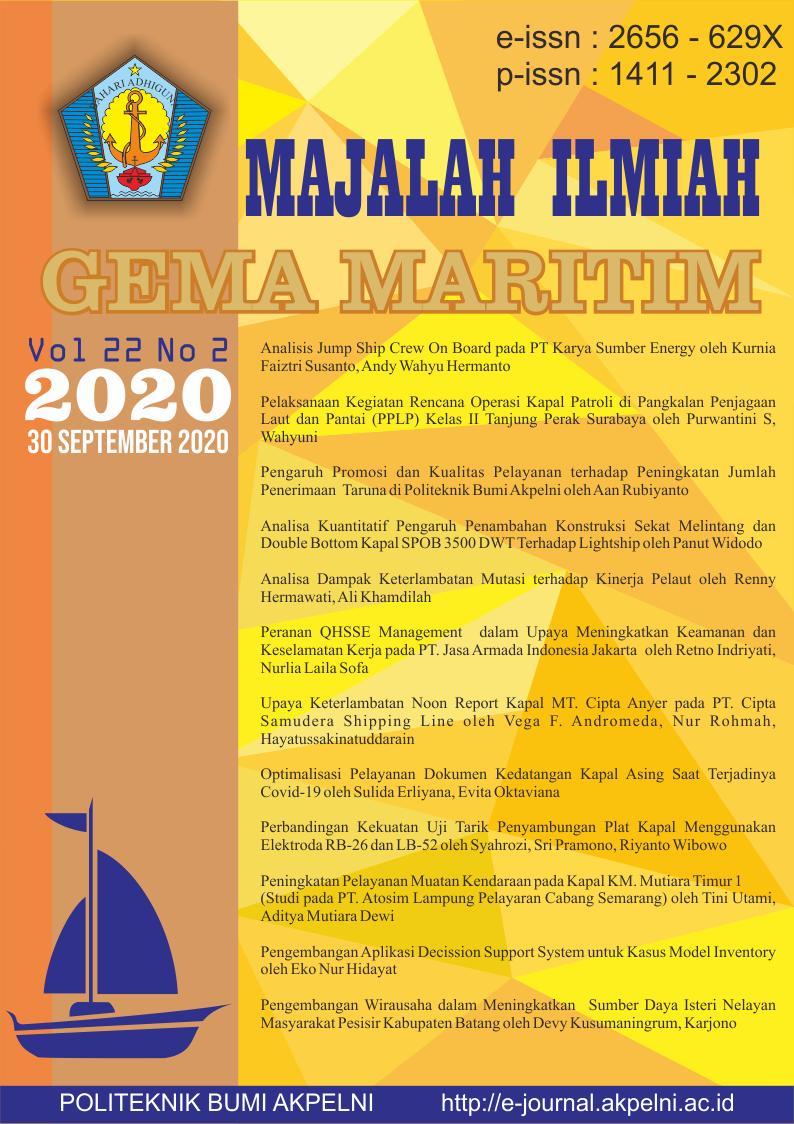 Volume 22 No 2 tanggal 30 September 2020